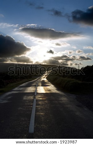 Road to nowhere at dusk