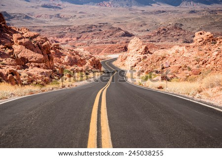 Road to Nowhere. Road Trip - stock photo