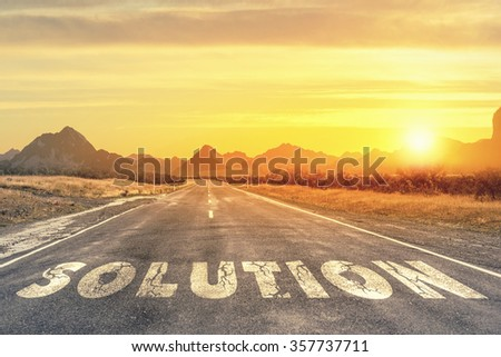 Road to problem solving - stock photo