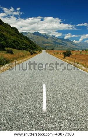 Road to Queenstown, New Zealand - stock photo