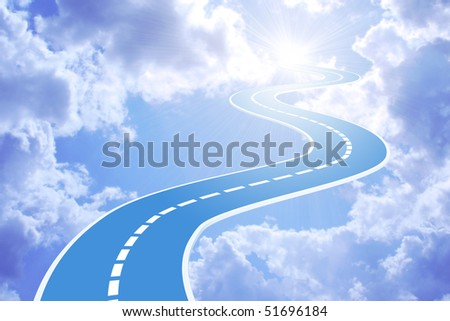 Road to sky - stock photo
