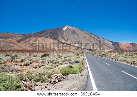 Road to Teide volcano