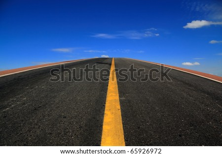 road to the blue sky - stock photo