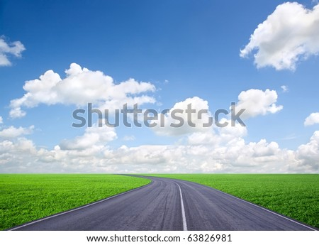 Road to the sky - stock photo