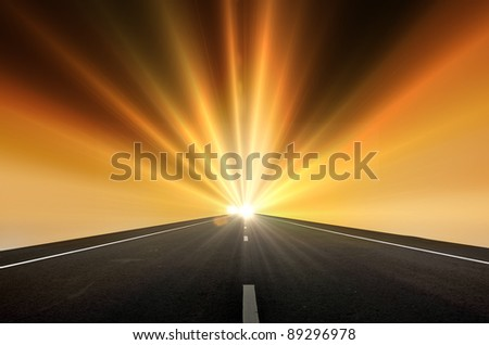 Road to the sun ray