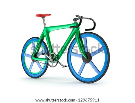 Road tour bicycle concept. My own design. - stock photo