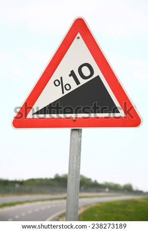 road traffic sign - stock photo