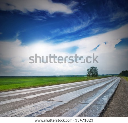 Road travelling - stock photo