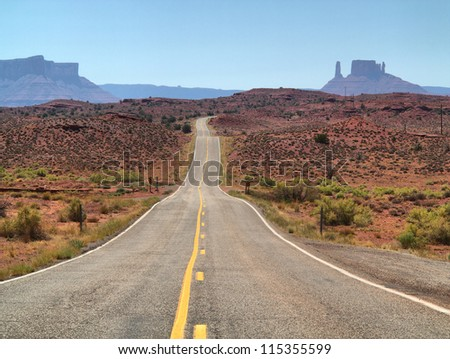 Road trip, Utah, USA - stock photo