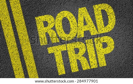 Road Trip written on the road - stock photo