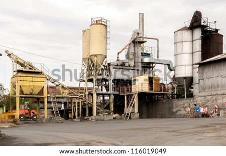 Road under construction. Construction and repair of road. - stock photo