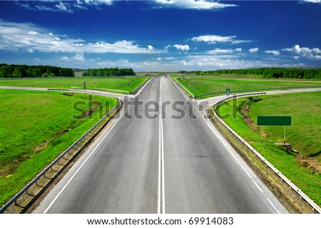road view - stock photo