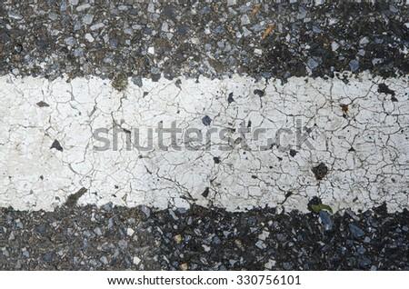 road white line - stock photo