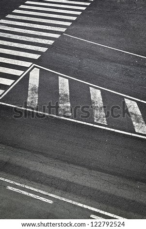 Road White Marks in Airport Runway