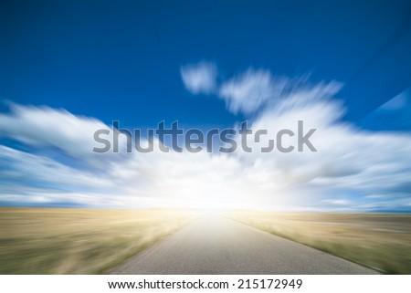 Road Winding Through mountain in tibet china. - stock photo