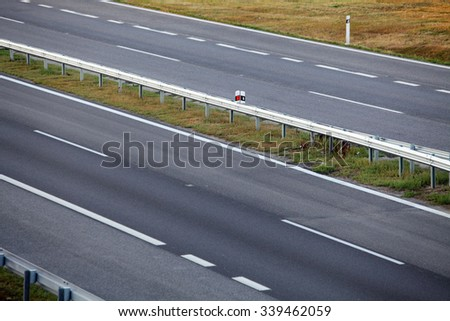 Road with asphalt - stock photo