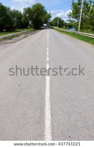 Road with markings