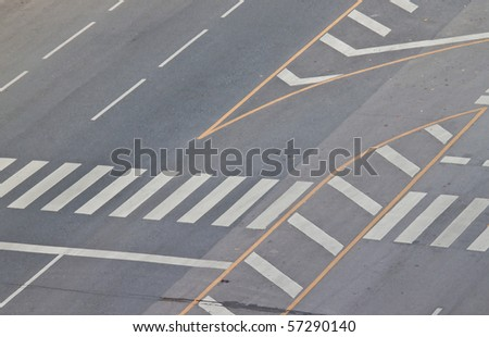 Road without car - stock photo