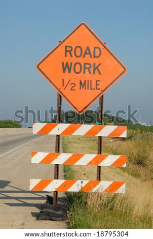 Road Work Sign - stock photo