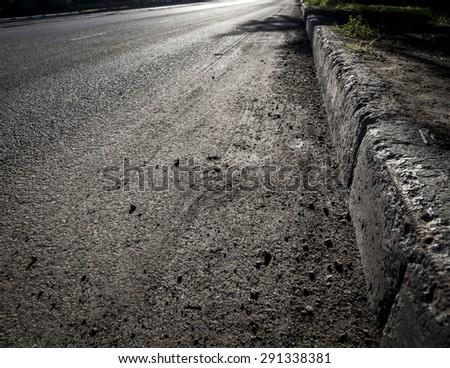 roadside - stock photo