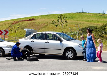 Roadside assistance - - stock photo
