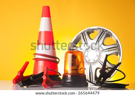 roadside assistance concept - stock photo