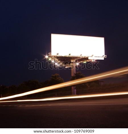 roadside billboards - stock photo