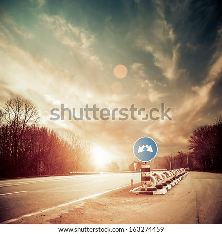 roadside scenic - stock photo