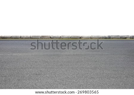 Roadside view on white background