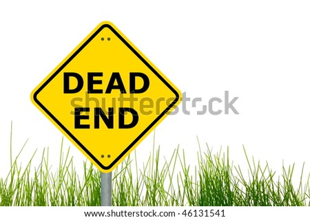 roadsign with dead end showing business or traffic concept - stock photo
