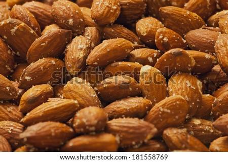 Roast Almond - stock photo