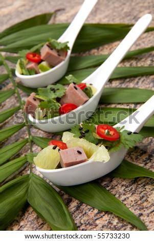 Roast Beef Asian Salad a la carte - roast beef, chili pepper, lime ...