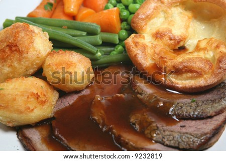 Roast Beef Dinner - stock photo