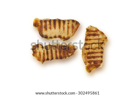 roast beef meat fillet entrecote  isolated over white background