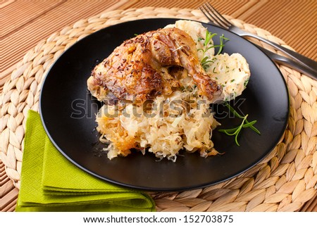 roast chicken with cabbage and dumplings