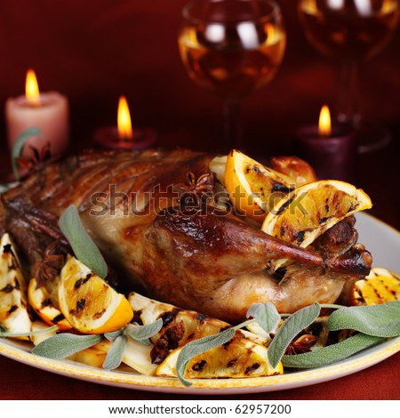 orange and rosemary spit roasted duck with orange and rosemary recipes ...
