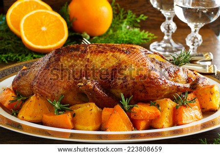 and rosemary spit roasted duck with orange and rosemary recipes ...