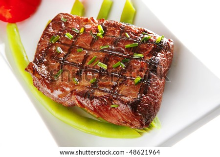 roast meat - stock photo