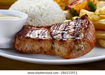 roast pork loin - stock photo