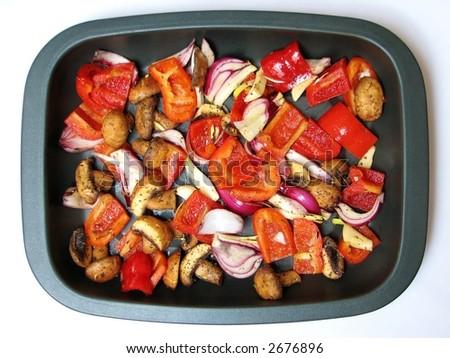 Roast Vegetables - stock photo