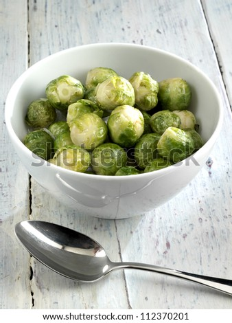 roasted brussels sprouts - stock photo