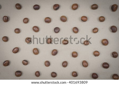 Roasted chestnuts - stock photo