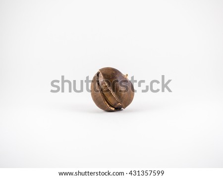 Roasted chestnuts on white  - stock photo