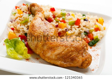 leg with rice roasted chicken drumsticks cuban chicken legs cuban ...