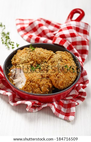 roasted chicken legs - stock photo