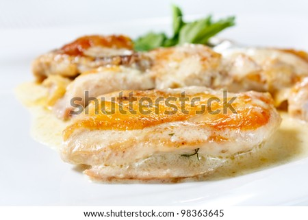Roasted Chicken Meat. Tasty and nutritious white meat - stock photo