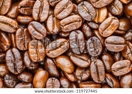 roasted coffee arabica - stock photo