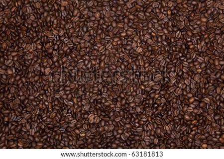 Roasted coffee bean background. - stock photo