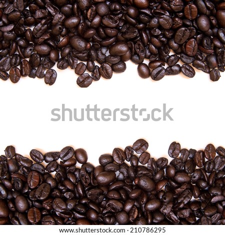 Roasted coffee beans, the image background.
