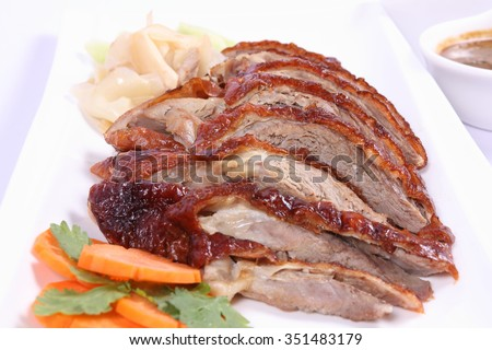 Roasted duck , Chinese style